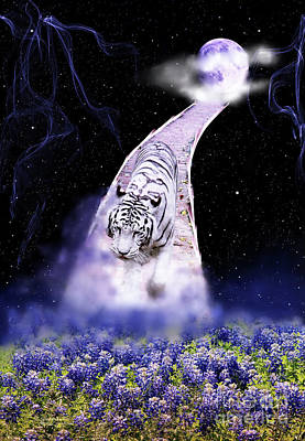 Photograph - White Tiger Fantasy by Inspirational Photo Creations Audrey Taylor