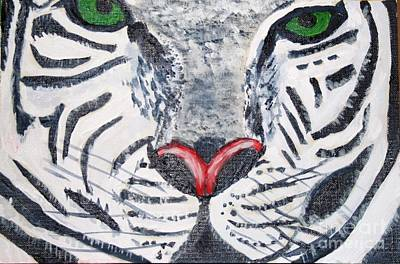 Painting - White Tiger by Victoria Hasenauer