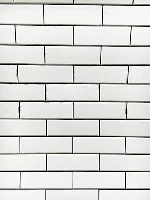 White Tiles Background Art Print