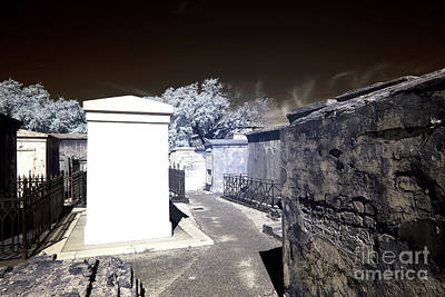New Orleans Cemeteries Photograph - White Tomb Infrared by John Rizzuto
