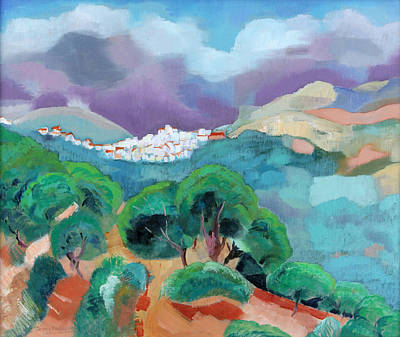 Painting - White Town In Ronda by Jenny anne Morrison