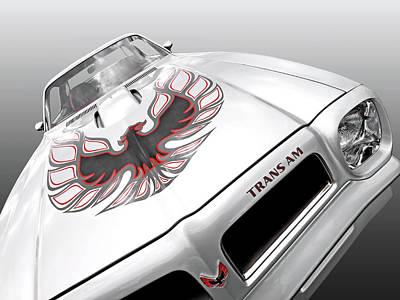 Photograph - White Trans Am Firebird by Gill Billington