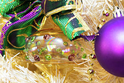 Photograph - White Tree And Purple Ornaments by SR Green
