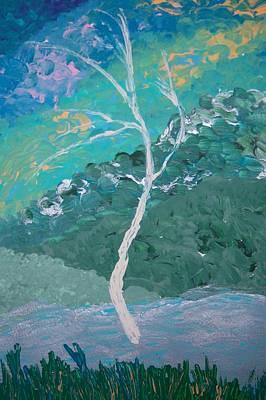 Painting - White Tree by Helene Henderson