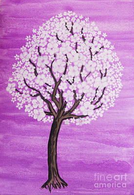 Painting - White Tree In Blossom by Irina Afonskaya