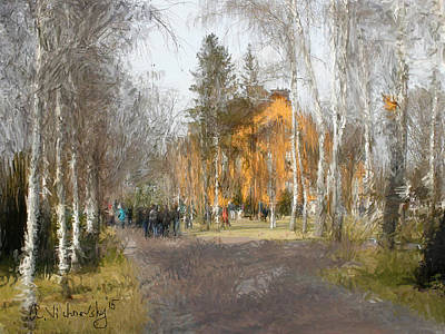 Painting - White Trees And Honka by Alexander Vishnevsky
