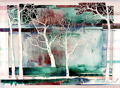 Painting - White Trees by Connie Williams