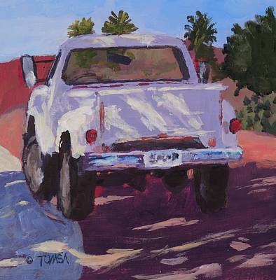 Painting - White Truck Shadows - Art By Bill Tomsa by Bill Tomsa