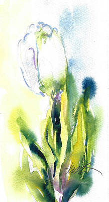 Painting - White Tulip by Jacki Kellum