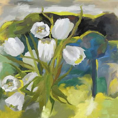 White Tulips 395 I Art Print