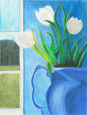 Painting - White Tulips by Arlene Crafton