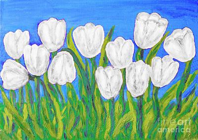 Painting - White Tulips by Irina Afonskaya