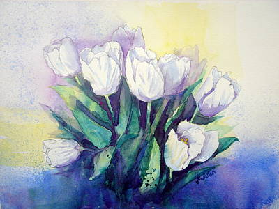 Painting - White Tulips by Judy Fischer Walton
