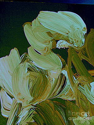 Painting - White Tulips by Nancy Kane Chapman