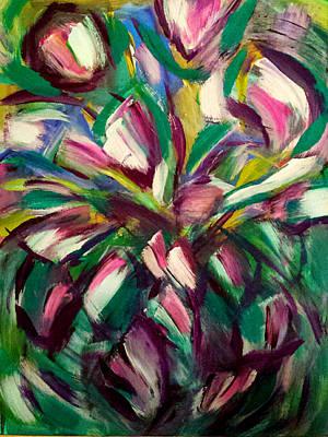 Painting - White Tulips by Nikki Dalton