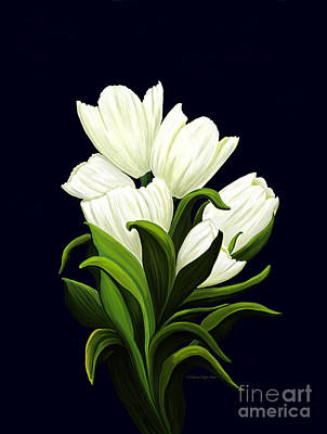 Painting - White Tulips by Patricia Griffin Brett