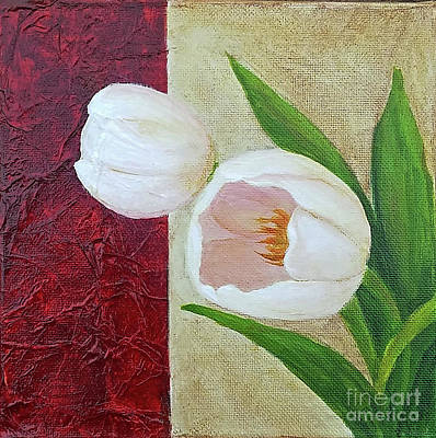 Painting - White Tulips by Phyllis Howard