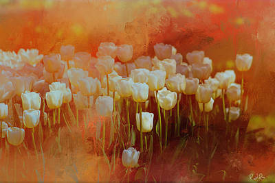 Digital Art - White Tulips by Richard Ricci