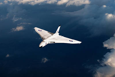Digital Art - White Vulcan B1 At Altitude by Gary Eason