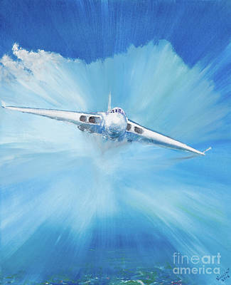 Plane Painting - White Vulcan by Vincent Alexander Booth