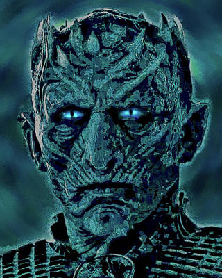 Walker Digital Art Photograph - White Walkers. The Night King. Mask. by Andy Za