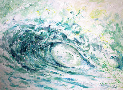 Catch A Wave Painting - White Wash by William Love