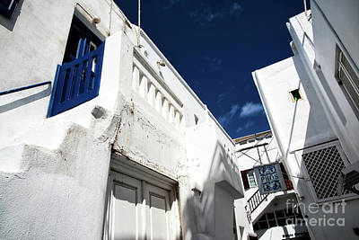 Photograph - White Washed Buildings In Mykonos Town by John Rizzuto
