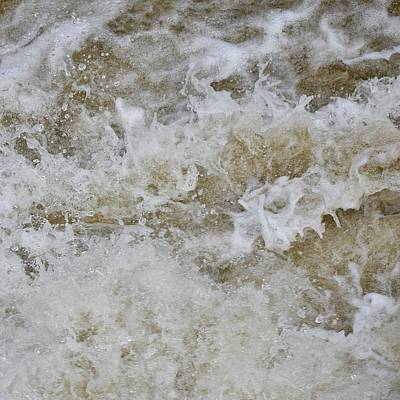 Photograph - White Water Abstract by Val Arie