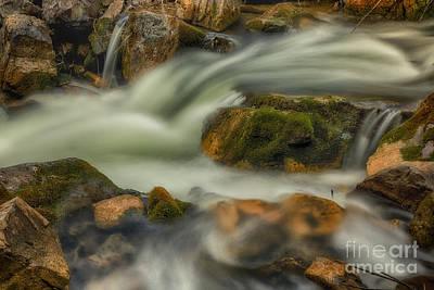 Thomas Kinkade - White Water and Mossy Rocks HDR by Mitch Johanson
