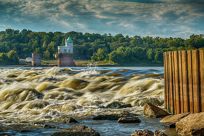 Photograph - White Water At The Chain Of Rocks St Louis 7r2_dsc2256_10012017 by Greg Kluempers