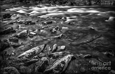 Photograph - White Water Bw by Walt Foegelle