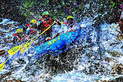 White Water Rafting Painting - White Water by Don Barrett