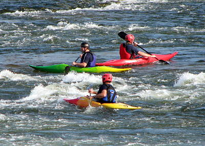 Photograph - White Water Kayaks by T Guy Spencer