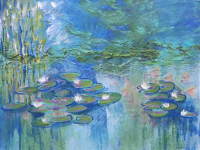 Painting - White Water Lilies by Nikki Dalton