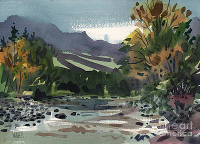 Plein Air Painting - White Water On The White River by Donald Maier