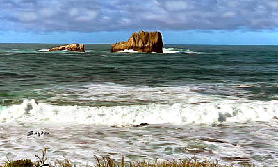 Photograph - White Water Piedras Blancas Light Station by Floyd Snyder