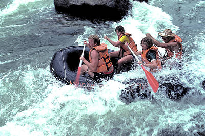 White Water Rafting Art Print by Carl Purcell