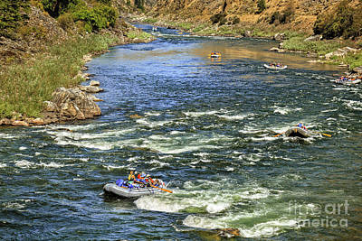 White Water Rafting Art Print by Robert Bales