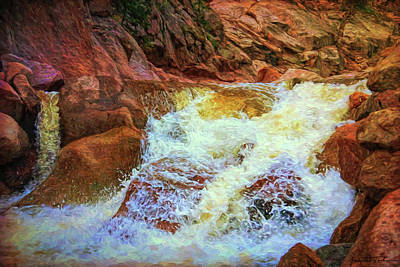 Water Filter Mixed Media - White Water Rush by Todd Yoder