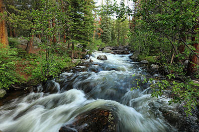 Photograph - White Water Stream by Sean Allen