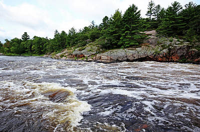 Photograph - White Water Sturgeon Chutes I by Debbie Oppermann