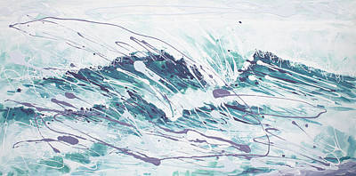 Painting - White Wave Abstract by William Love