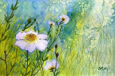 Painting - White Wild Poppies by Wonju Hulse