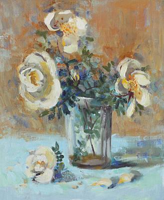 Painting - White Wild Roses by Ilya Kondrashov