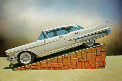 Photograph - White Willy Caddy by Susan McMenamin