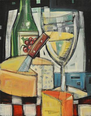White Wine And Cheese Art Print by Tim Nyberg