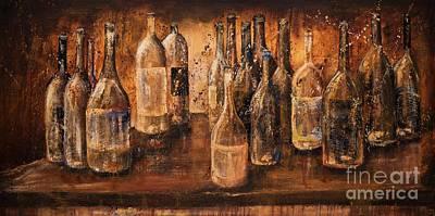 Italian Wine Painting - White Wine Cellar by Jodi Monahan