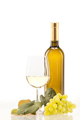 Wine Photograph - White Wine by Wolfgang Steiner
