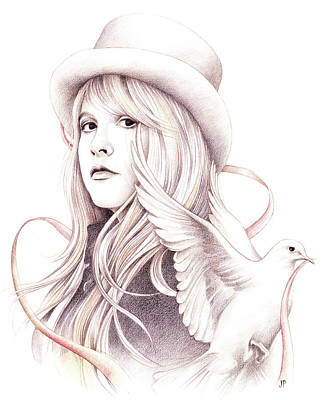 Stevie Nicks Drawing - White Winged Dove by Johanna Pieterman