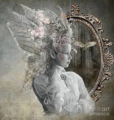Digital Art - White Wings by Ali Oppy